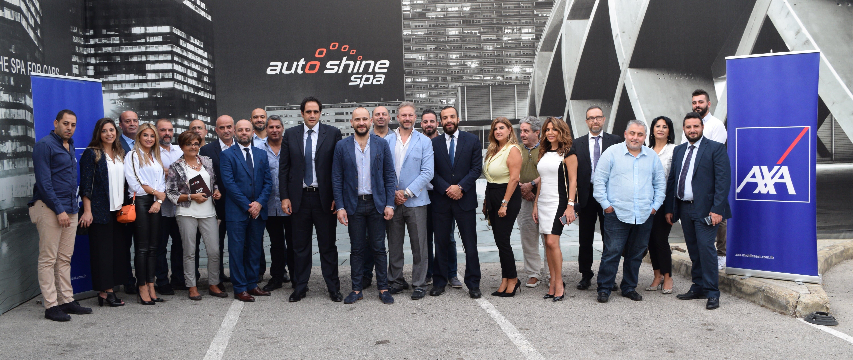 axa middle east auto shine partnership